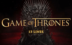 Game of Thrones - 15 Lines,